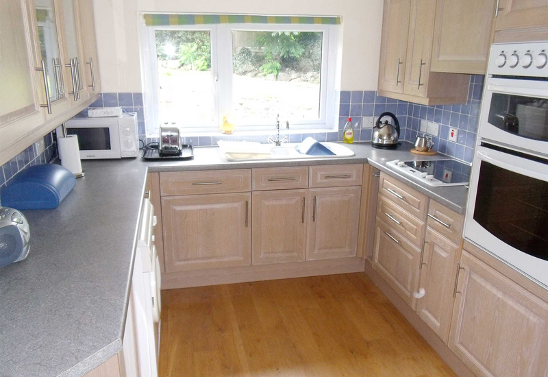 The fully equipped kitchen has an eye level cooker with separate hob, microwave, fridge, dishwasher, washing machine and toaster. There is a small freezer in the hallway.